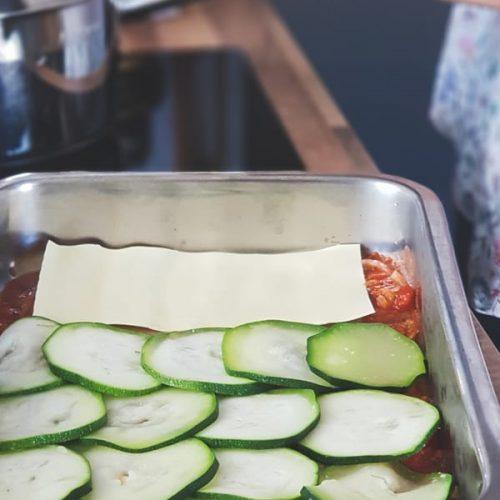 Recette de lasagnes tomates courgettes et fromage de chèvre
