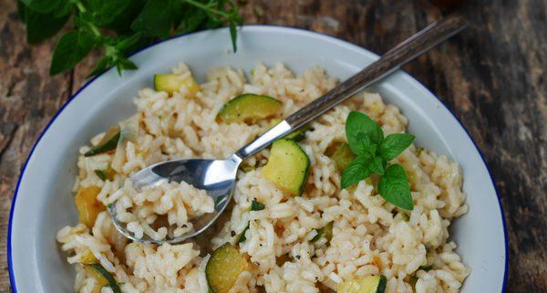 Recette de risotto aux courgettes