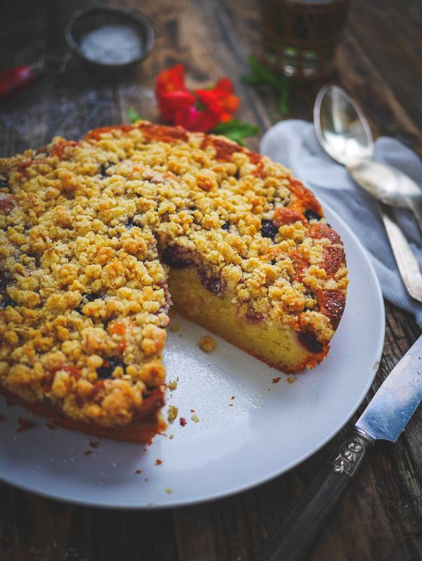 recette du gâteau à la cerise et crumble