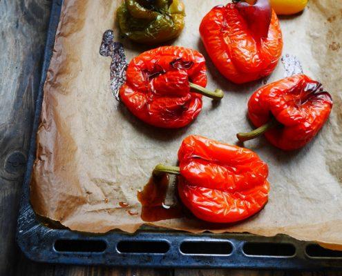 Comment faire cuire des poivrons au four
