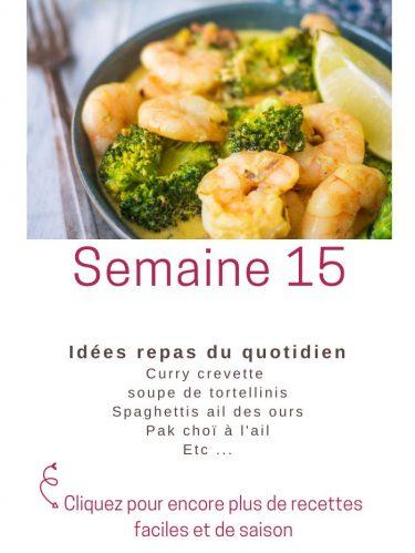 idées repas semaine 15