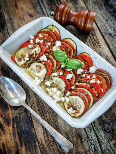 Recette de tian de tomates et courgettes à l'omnicuiseur vitalité