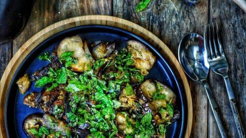 recette d'aubergines grillées la menthe