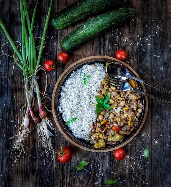 recette de ragoût de courgettes et pois chiches