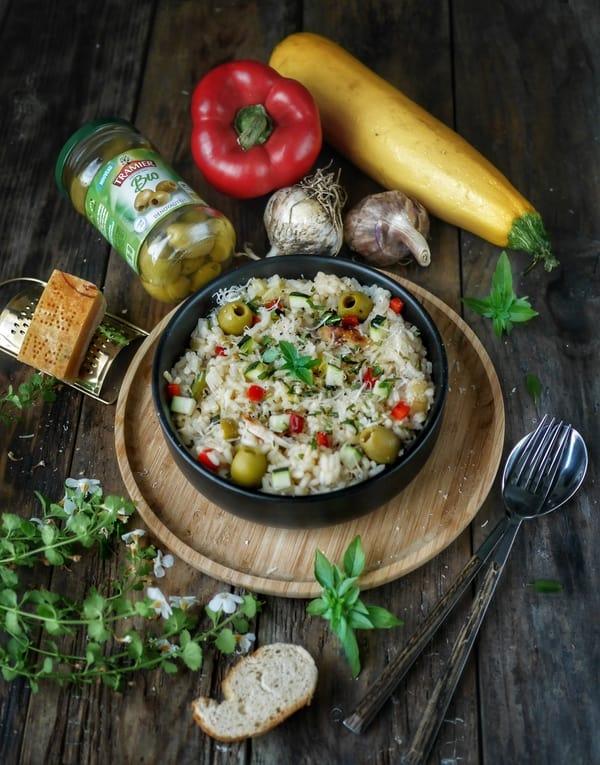 Recette de risotto aux olives