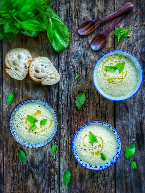 recette soupe froide de concombre