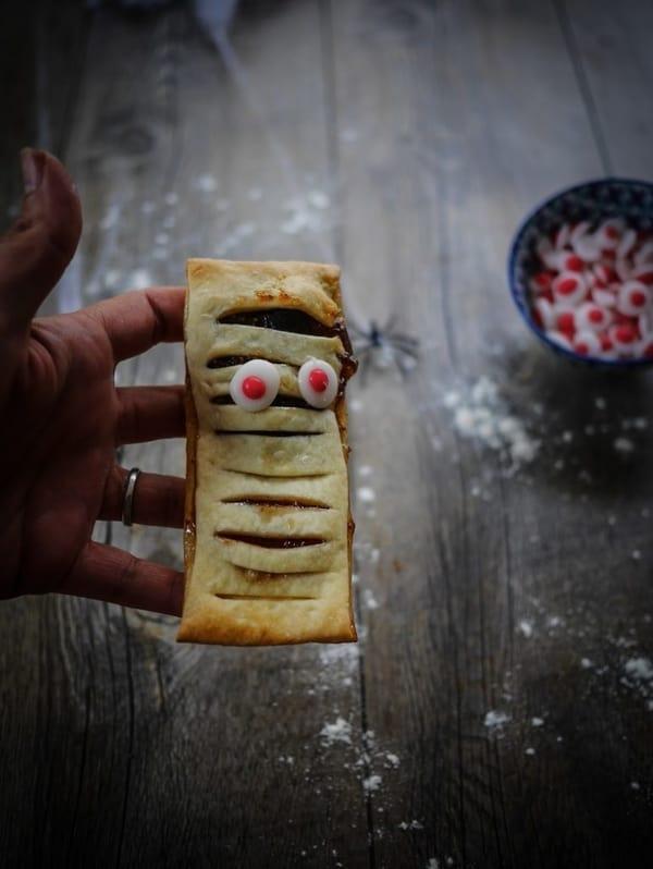 Gâteaux d'Halloween momies
