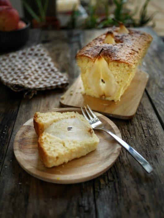 recette cake poires amandes