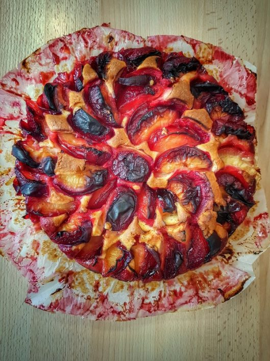 recette de gâteau aux prunes rouges