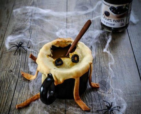 soupe d'halloween araignée