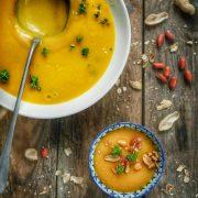 soupe de patate douce et cacahuètes