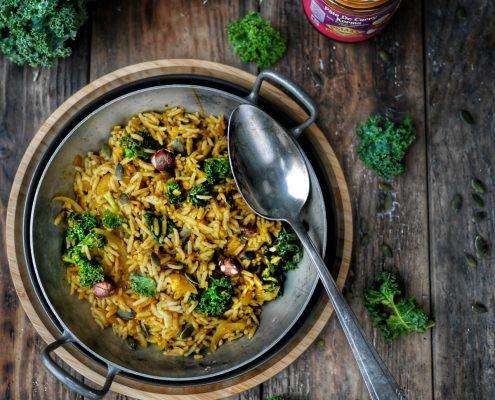 recette de riz au curry à l'indienne