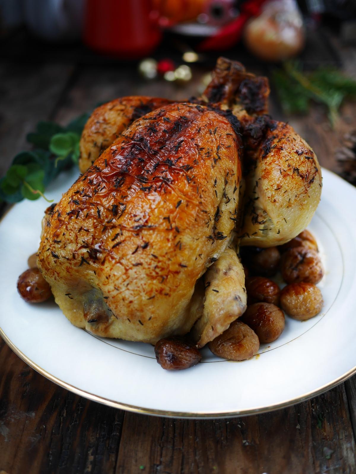 poulet de noel aux marrons