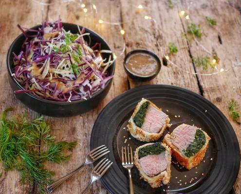 recette du boeuf wellington aux épinards en portions individuelles