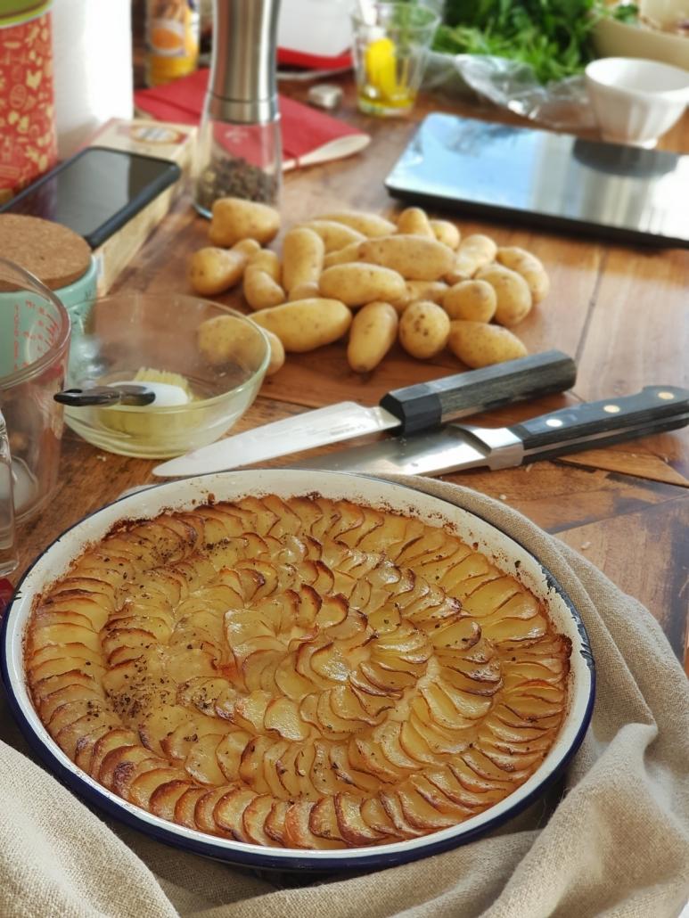 Gratin de ratte parmesan et béchamel au chou-fleur