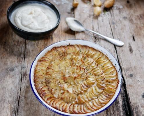 recette de gratin de pommes de terre et chou fleur