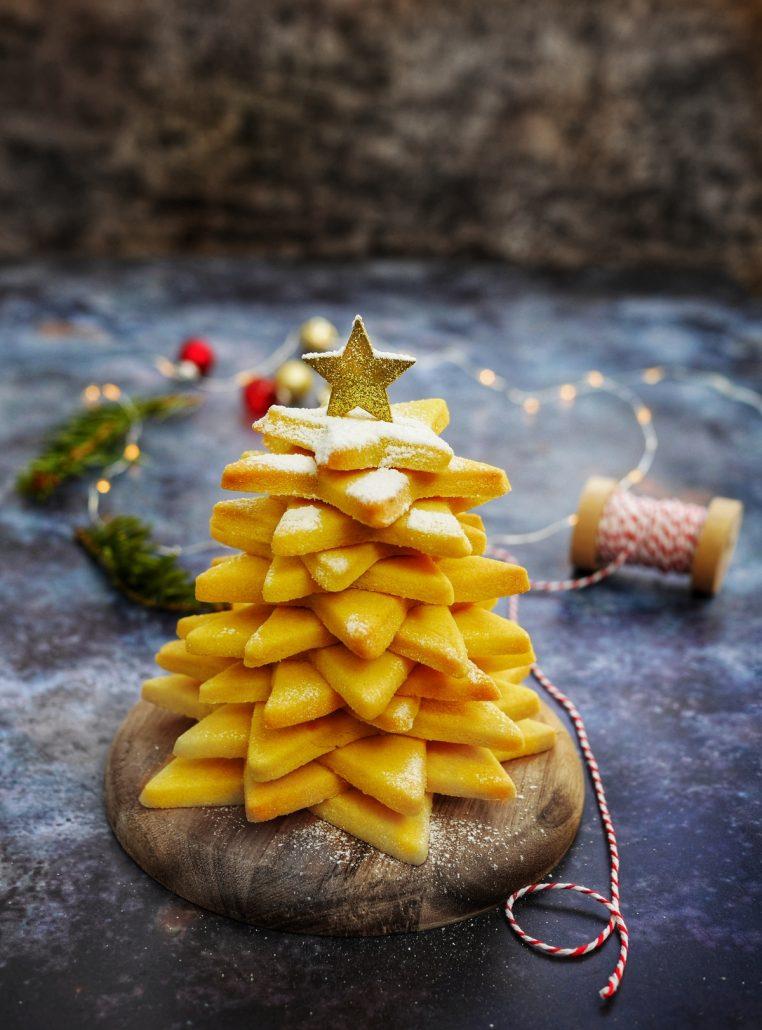 Sapin de Noël en biscuits
