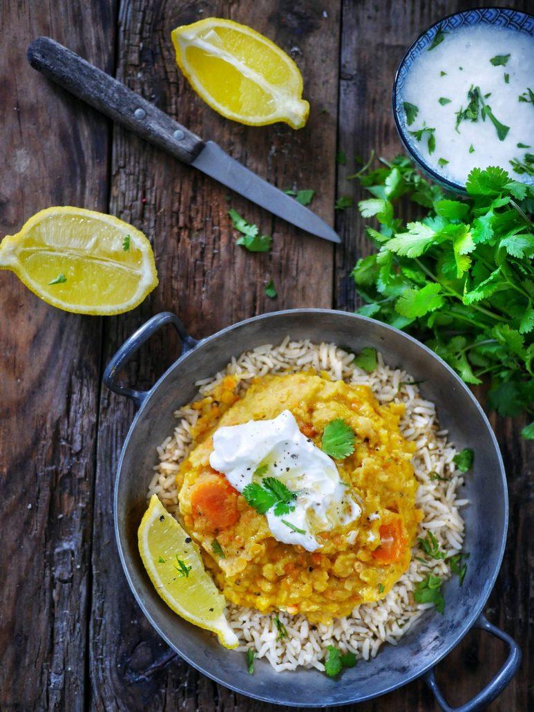 recette dhal lentilles corail et carottes