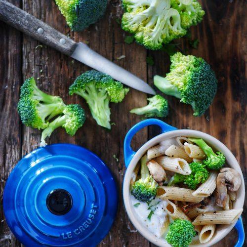 gratin de pâtes au brocolis
