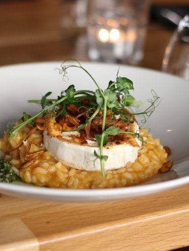 Risotto au camembert rôti