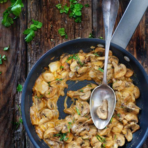 recette de champignons stroganoff