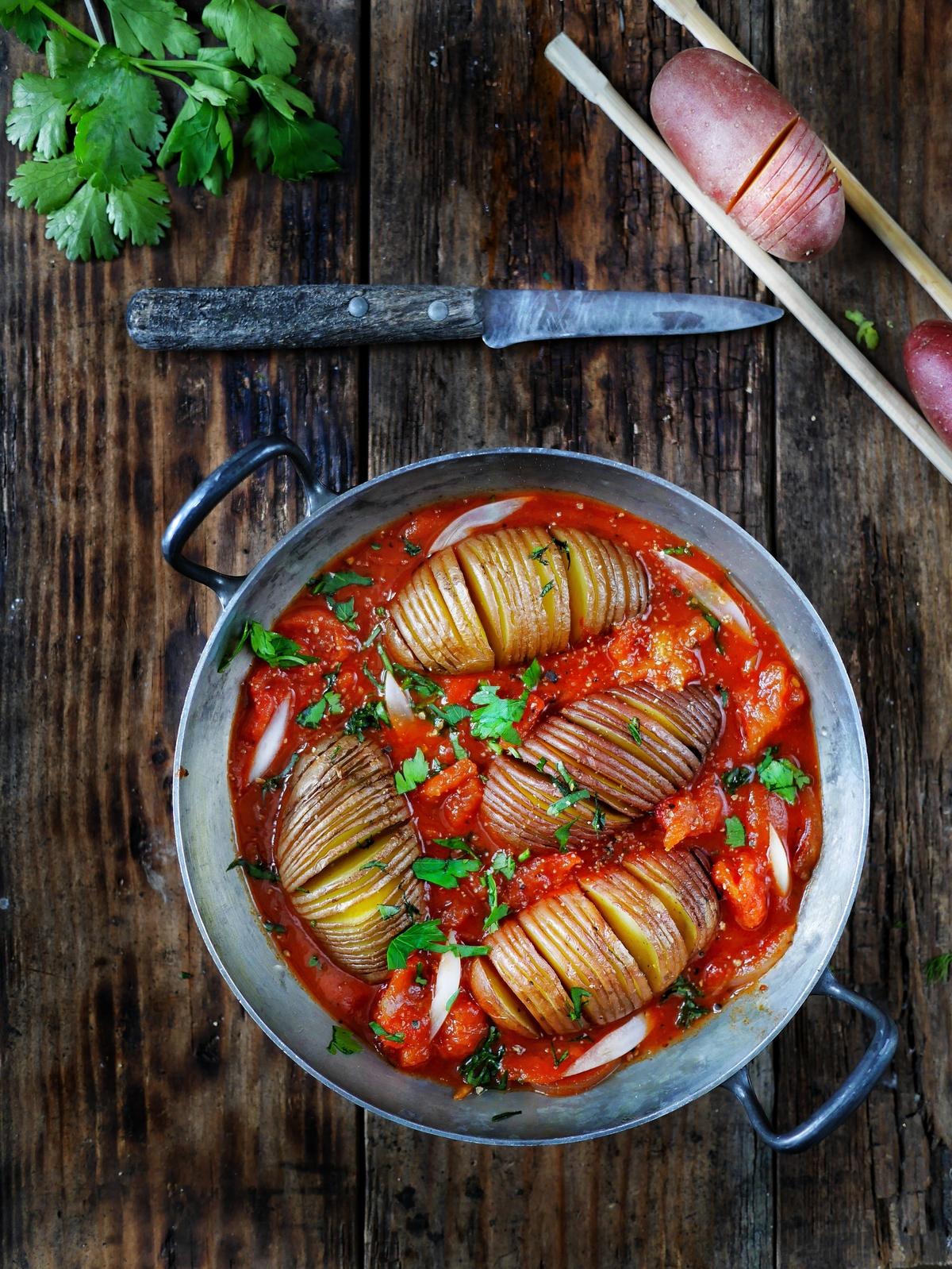 préparer des pommes de terre suédoises à la tomate