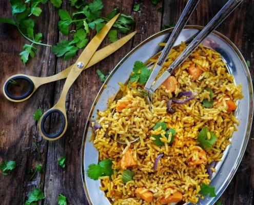 riz végétarien curry