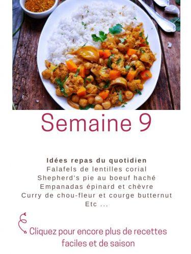idées repas semaine 9