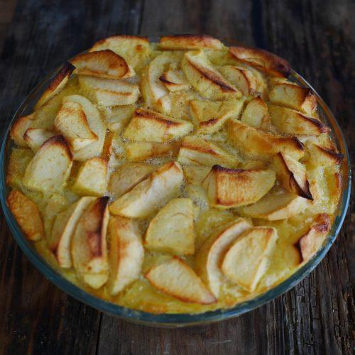recette de clafoutis aux pommes sans lactose