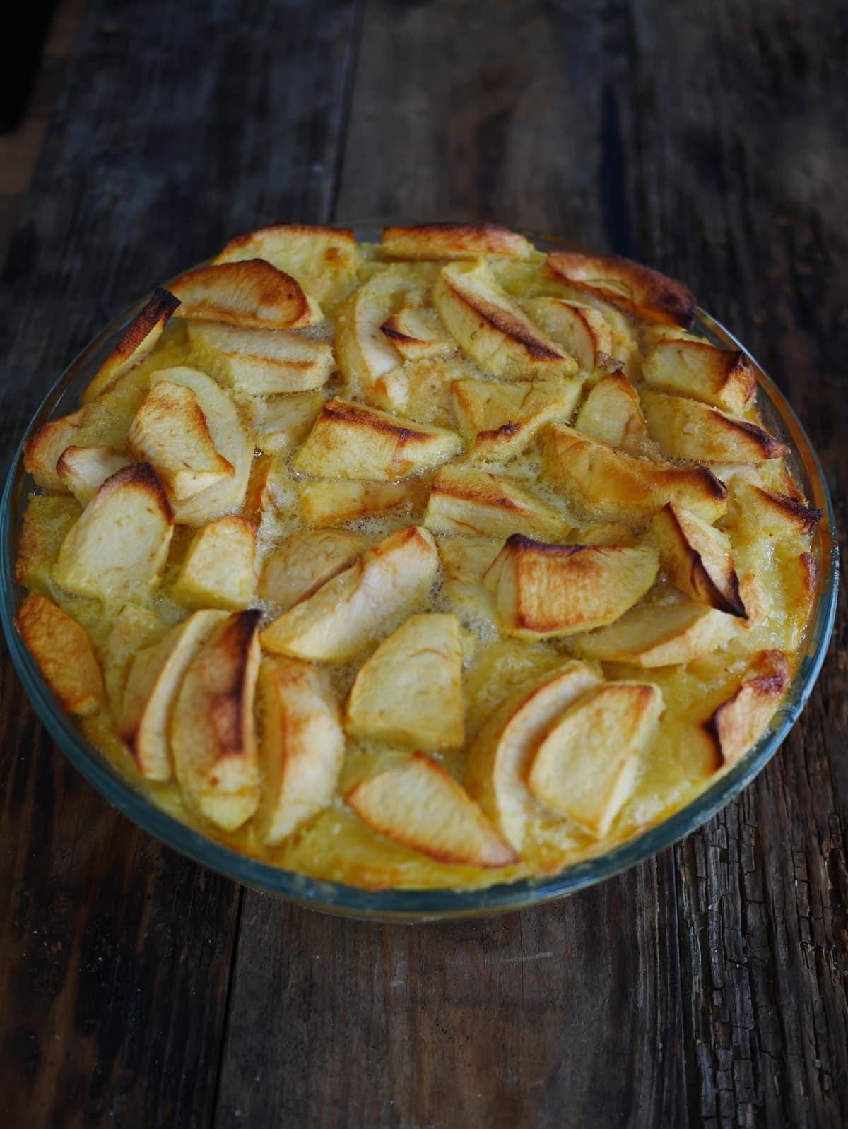 Clafoutis aux pommes sans lait