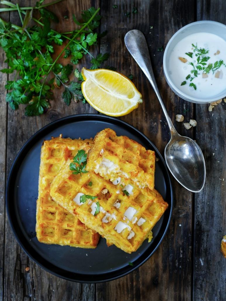 recette de gaufre carottes et emmental