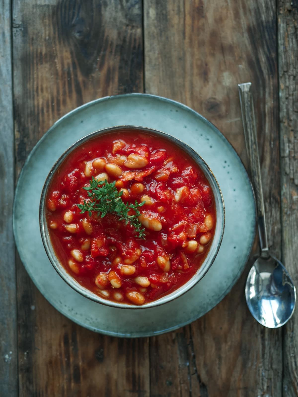 Haricots blanc à la tomate ( Brunch )