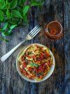 recette de pâte sauce tomate lentilles