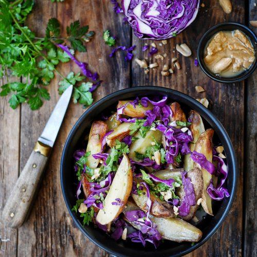 recette de salade de chou rouge aux pommes de terre