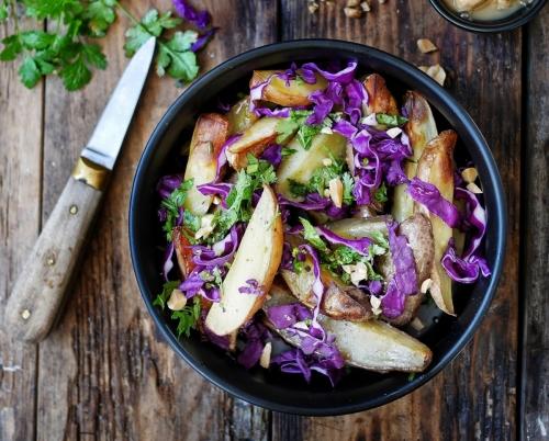 salade de chou rouge aux pommes de terre