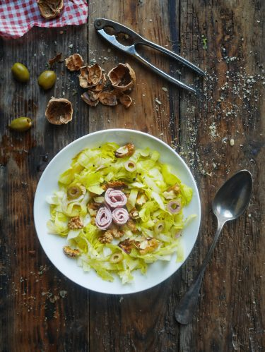 recette de salade d'endives au jambon et noix