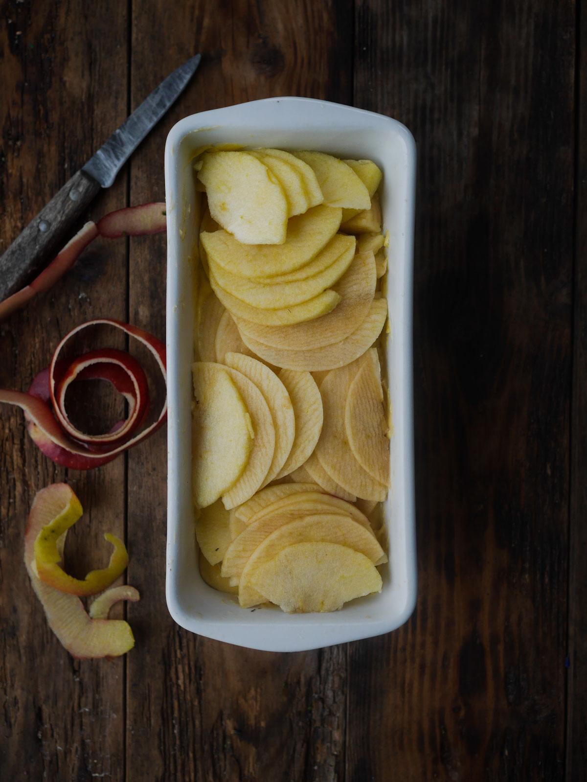 recette de cake aux pommes