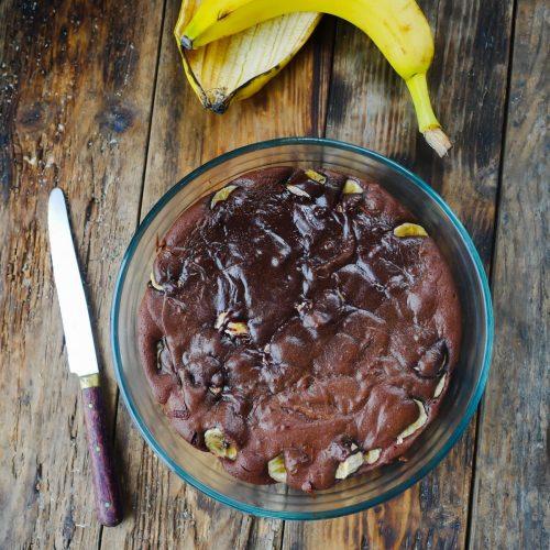 recette de gâteau chocolat bananes