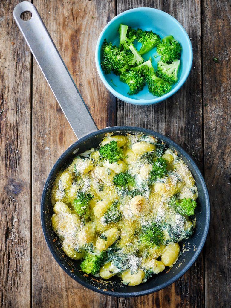 Gnocchis brocolis épinards