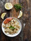 Recette de pâte de pâtes au saumon fumé et endives