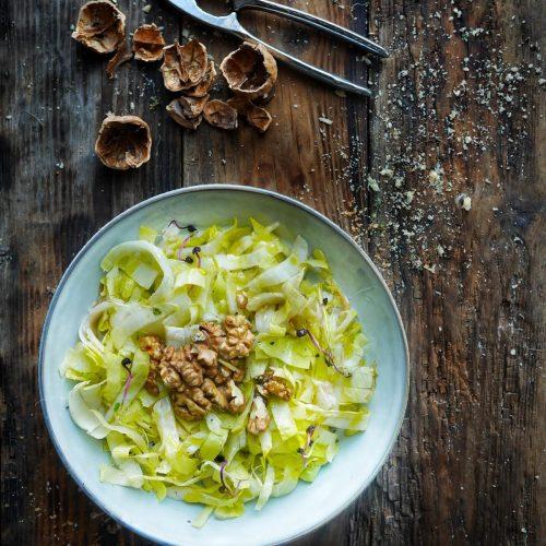 recette de salade d'endives aux noix