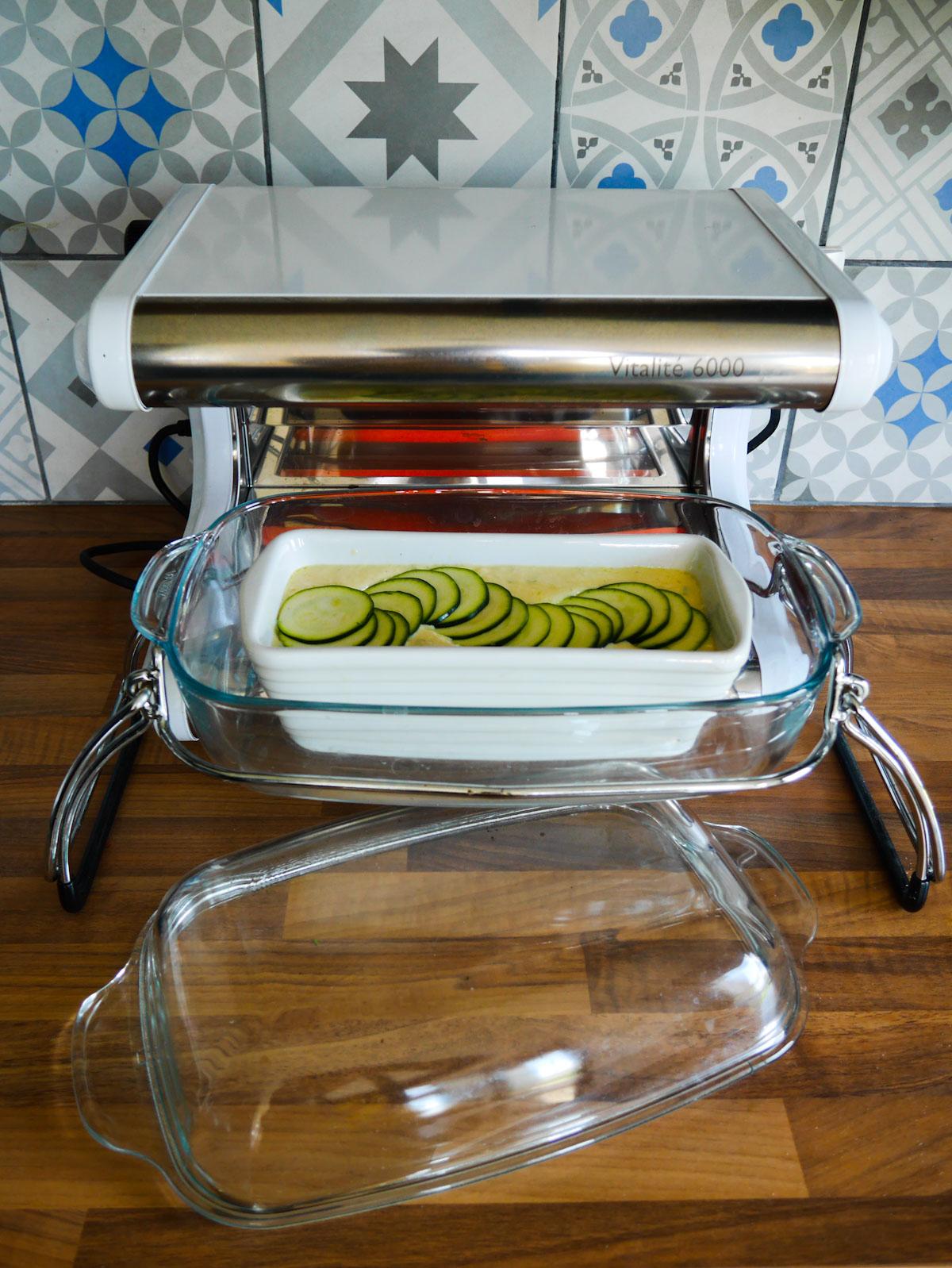 Cake courgette parmesan au basilic
