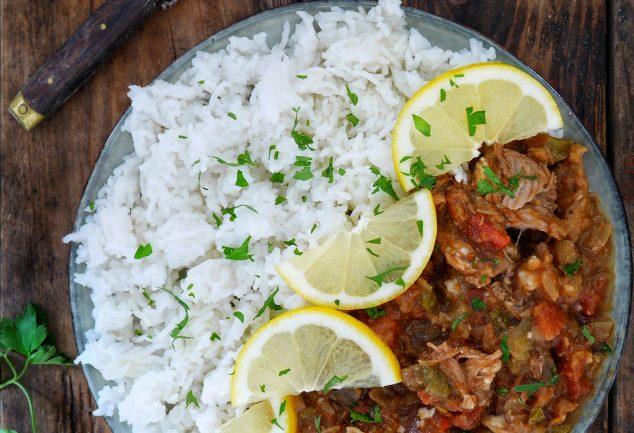 ragout d'agneau aux aubergines et riz
