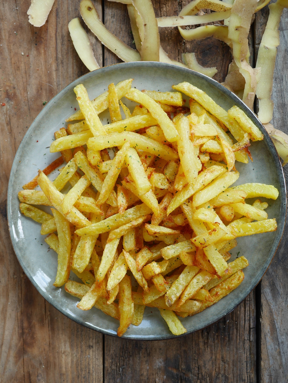 frites croustillantes et pas grasses