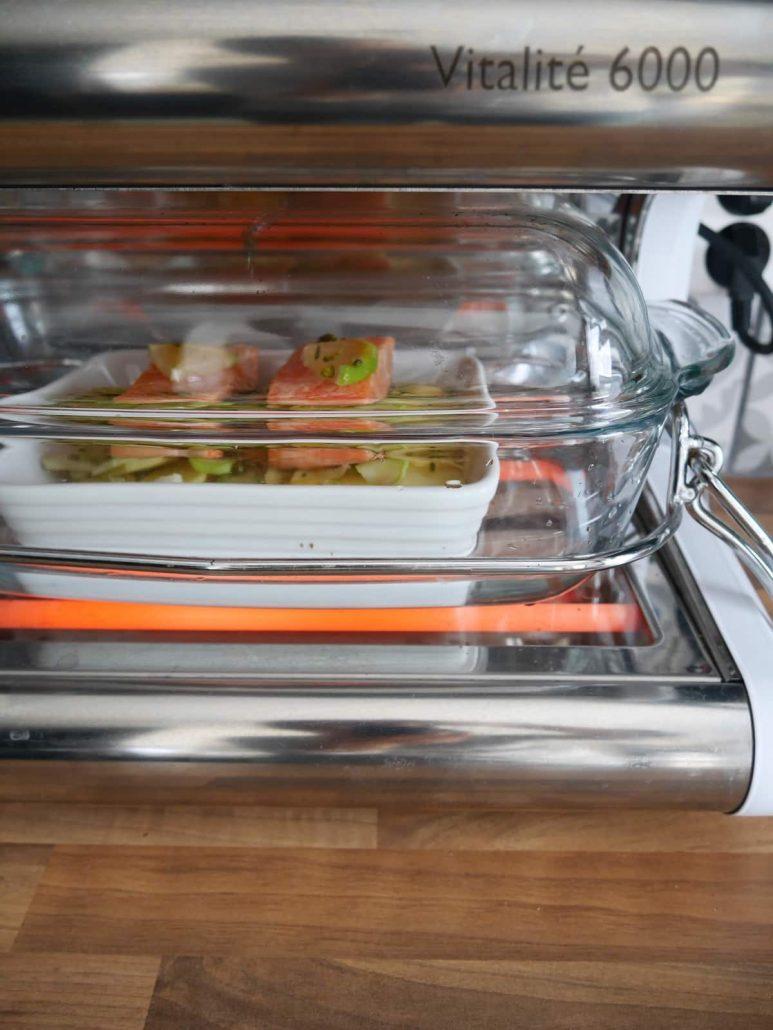Pavé de saumon, patates nouvelles et fenouil