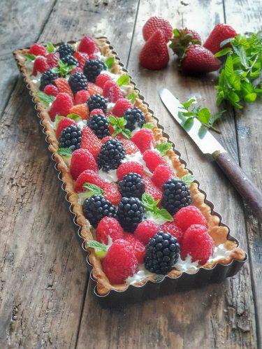 Tarte aux fruits rouges : framboises et mûres