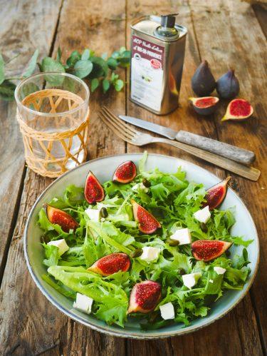 salade verte à la figue