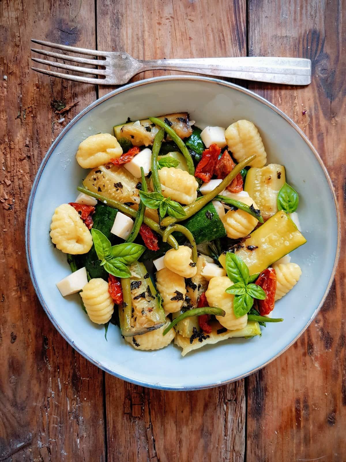 gnocchi aux courgettes et tomates séchées