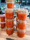 bocaux de coulis de tomates fait-maison