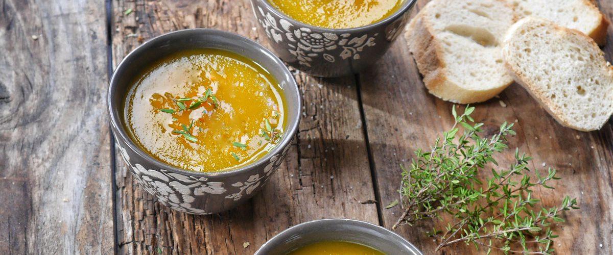 Soupe de carottes jaunes